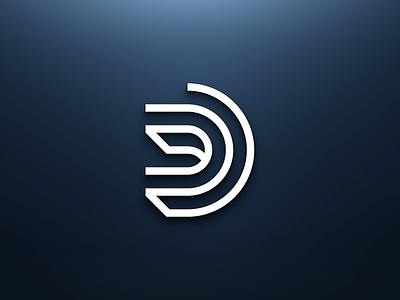 DAY 4 LETTER D lettermark initial typography illustration design logo branding brand 50dayschallenge dailylogochallenge