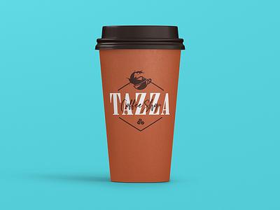 DAY 6 COFFEE SHOP LOGO tazza coffee shop coffeeshop coffee badge typography illustration vector design logo branding brand 50dayschallenge day6 dailylogochallenge