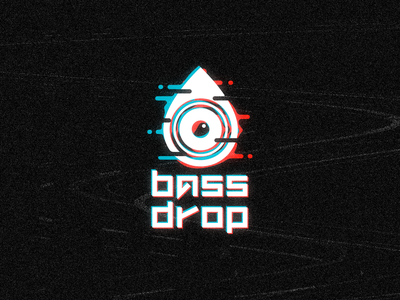 DAY 9 STREAMING LOGO bass drop edm music audio glitch badge typography illustration vector design logo branding brand 50dayschallenge dailylogo dailylogochallenge