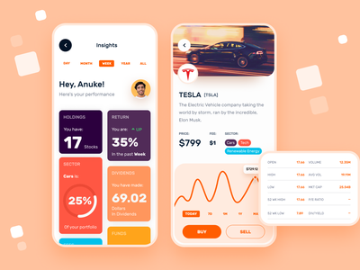 Stock Market | Mobile App dashboard insight stock mobile app ux ui minimal clean