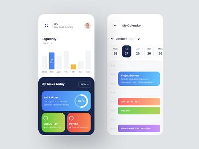 Mobile Applications | Personal ux ui ios drink water schedule calendar dashboard regularity habit task todo