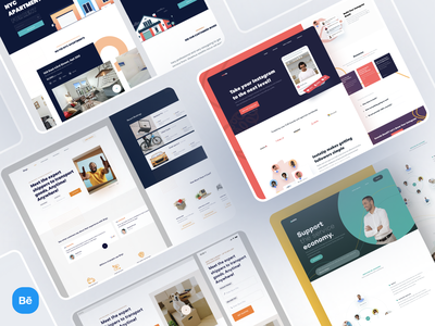 Website Design Interfaces   Behance service marketing growth real estate projects clean ux ui landing page websites behance