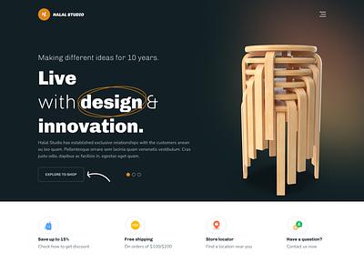 Furniture Website Design web design property home interior buy furniture store product shop ux ui landing page website furniture