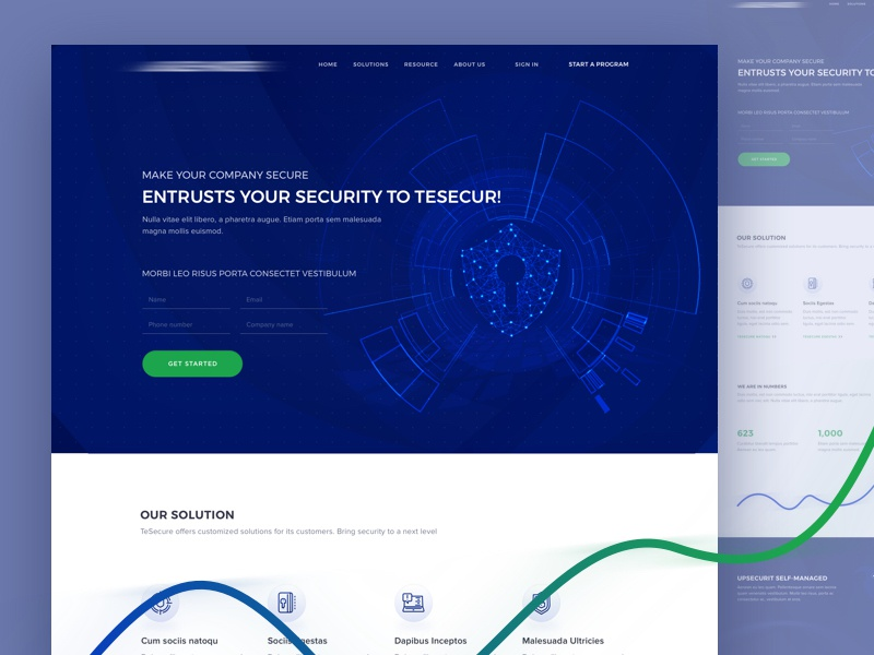 TeSecure Home Page it technology funding blockchain ico security blue global safety cloud bug hacker secure