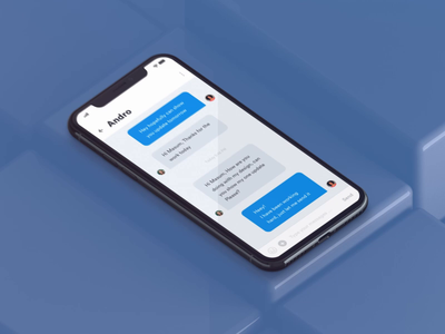 Bounce effect on iOSX chat screen ae iphonex ios message chat