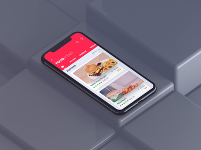 3D Swiping Idea For Food App resturant prototype animation ae filter booking hotel map ride app delivery food