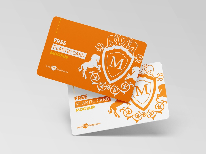 Free Plastic Cards Mockups business card design business card credit card psd templates template plastic card card design cards card design branding mockups mockup free