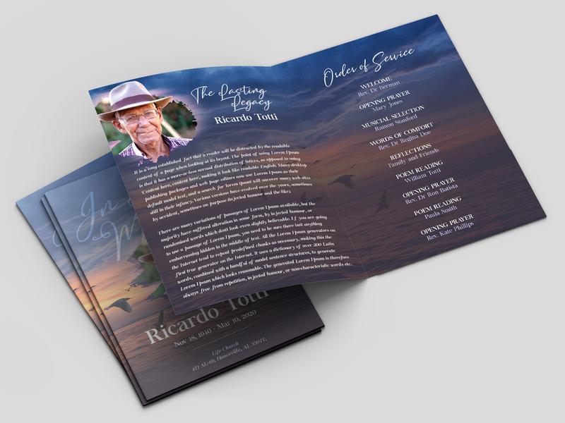 Free Funeral Brochure memories memorial brochure template brochure mockup brochure design brochure memory mockups mockup design free funeral memorial service funeral template funeral brochure funeral program funeral