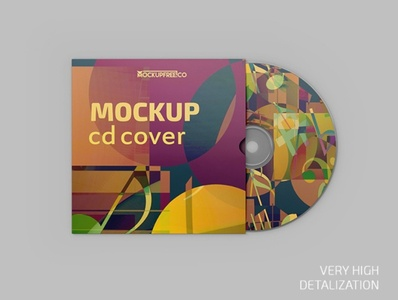 Free CD Cover Mockup mock up product mock-up mockups mockup cd packaging cd design cd cover cd