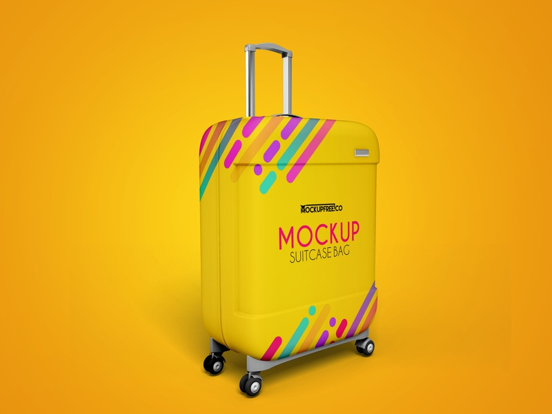 Free Suitcase Mockup Template free psd templates free psd template free psd mockup free psd luggage baggage travel bag suitcases suitcase bags bag design product mockups mockup free