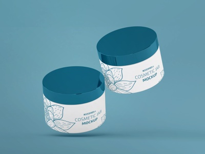 Free Cosmetic Jar Mockup jar mockup free psd cosmetic packaging cosmetics cosmetic jars jar branding design product mockups mockup free