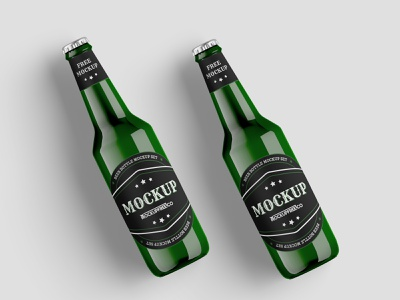 Free Beer Bottle Mockup Template free mock-up free mockups free mockup freebie free mokup beer bottle beer bottle mockup bottle design bottles bottle design product mockups mockup free