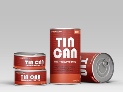 Free Tin Can Mockup Template free psd mockup freebie psd food mockup free mockup freebie packaging mockups packaging mockup packaging can mock-up can mockup tin cans tin can can design product mockups mockup free