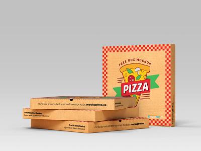 Free Pizza Box Mockup food mockup box mockup set box mockups box mockup pizza box pizza packaging design package design packagedesign packaging package box branding design product mockups mockup free