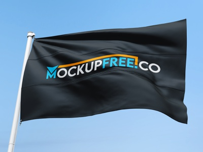 Free Flag Mockup PSD Template mockup psd mockup template flag mockup flags flag branding design product mockups mockup free
