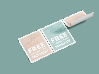 Free Postage Stamps Mockup PSD Template branding free mockup postage stamp mockup stamp mockup postage stamps design product mockups mockup free