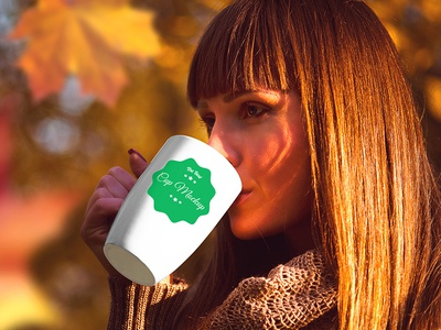 Cup in Autumn Scenery – 5 Free PSD Mockups