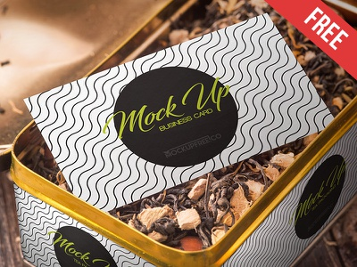 Tea Packaging - Free PSD Mockup mockups product free mockup tea sugar package lemon drink can branding box