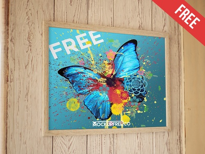 Poster – Free PSD Mockup free mockups product mockup wall picture poster