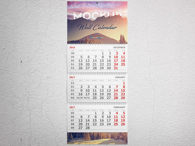 Calendar Typography Jobs : Wall and desk calendar mockups set free psd by