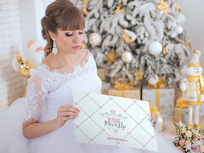 Wedding invitation, poster, book – 7 Free PSD Mockups mockups product free mockup bouquet wedding gift packaging wedding-invitation booklet book poster
