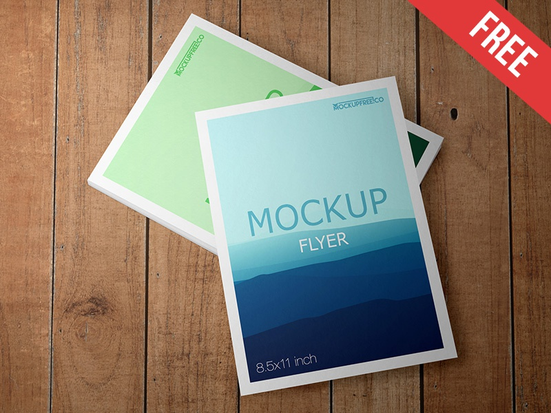 Flyer - Free PSD Mockup mockups product free mockup wall table stack poster paper flyer afisha