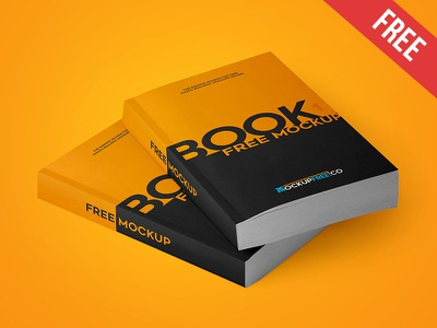 Paperback Book - 2 Free PSD Mockups mockups product free mockup softcover realistic paperback paper page cover book