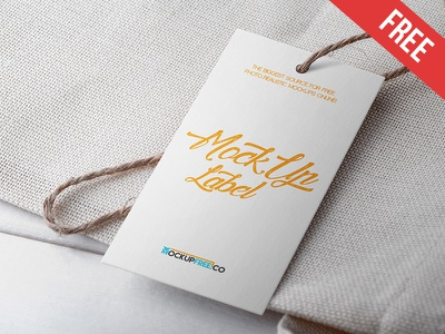 Label - 2 Free PSD Mockups mockups product free mockup tag paper logo label cardboard card burlap apparel