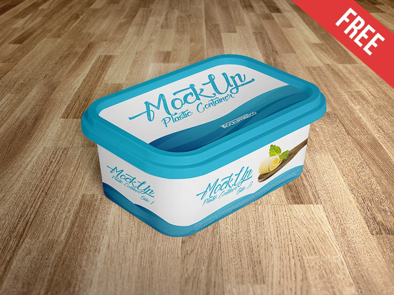 Plastic Container 2 Free Psd Mockups By Mockupfree On Dribbble