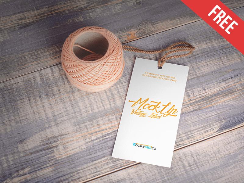 Vintage Label – 2 Free PSD Mockups mockups product free mockup vintage tag paper logo label clothes cardboard apparel
