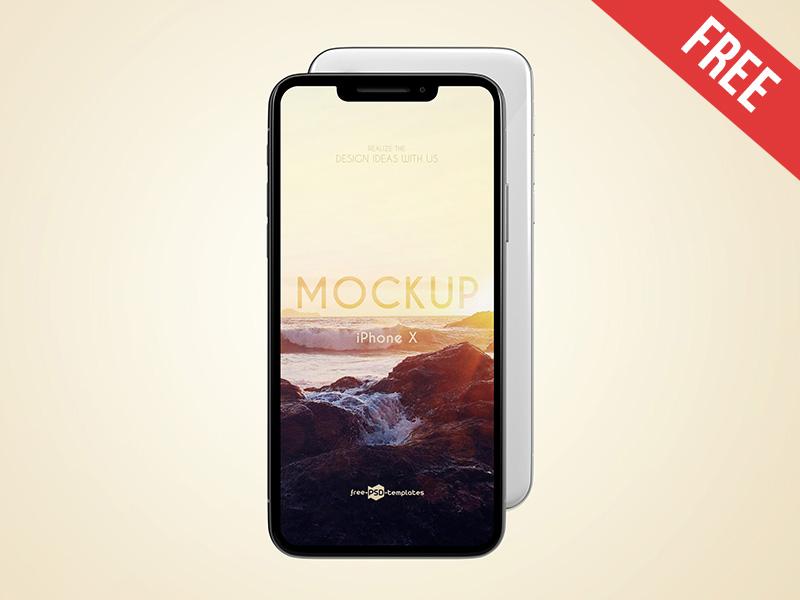 3 Free iPhone X Mock-ups in PSD mockups product free mockup ui touch smartphone smart screen retina iphone x apple