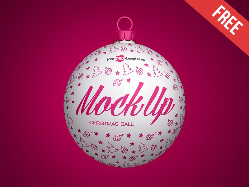Free Christmas Ball Mock-up in PSD by Mockupfree   Dribbble   Dribbble