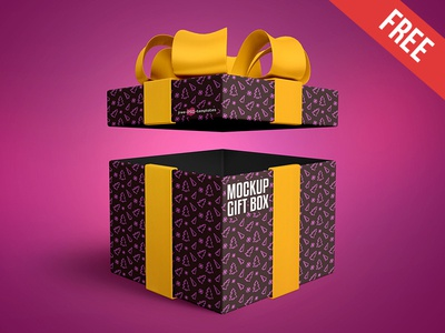 Free gift box mock up in psd by mockupfree dribbble free gift box mock up in psd negle Choice Image