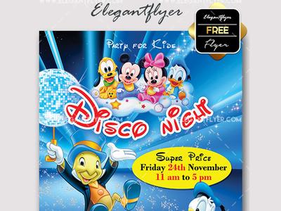 Disney Free Flyer PSD Template Facebook Cover By Mockupfree - Disney flyer template