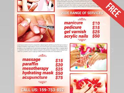 Nail salon flyer akbaeenw nail salon flyer reheart Choice Image