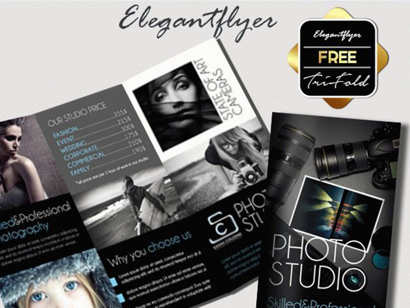 Photographer Free Tri Fold Psd Brochure Template By