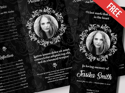 Free Funeral Trifold Brochure Template In Psd By Mockupfree Dribbble