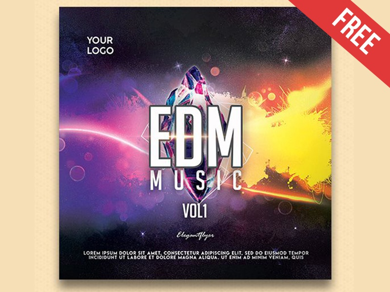 edm music free cd cover psd template by mockupfree dribbble