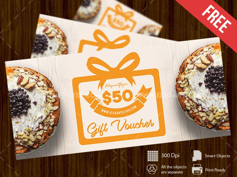 cake free gift certificate psd template by mockupfree dribbble