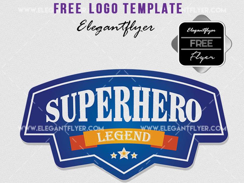 superhero logotype free logo template by mockupfree dribbble