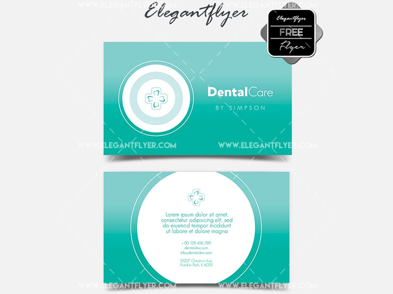 Dental Care – Free Business Card Templates PSD by Mockupfree on Dribbble