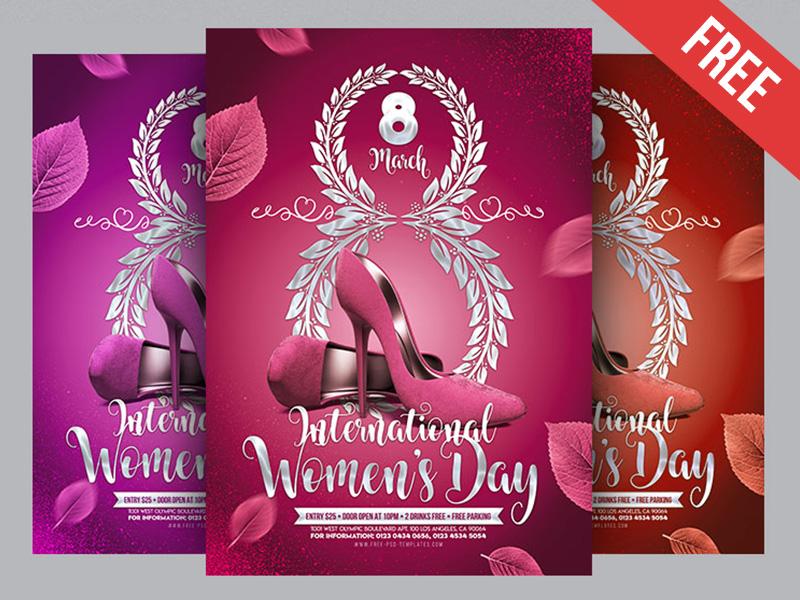 free international women u2019s day poster in psd by mockupfree