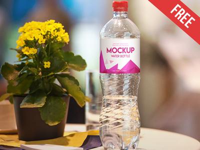 Free Water Bottle Mock-up in PSD