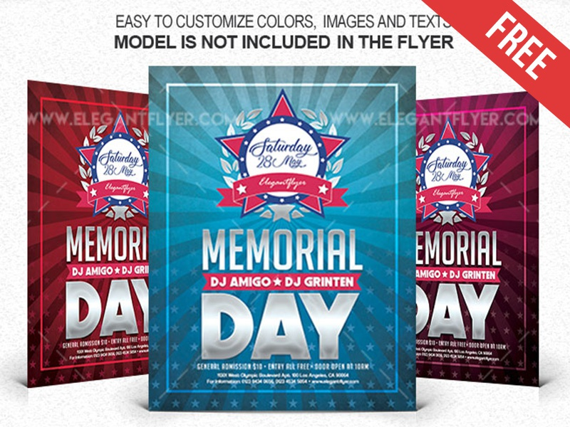 memorial day 2018 free flyer psd template facebook cover by