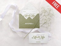 Wedding Invitation – 3 Free PSD Mockups