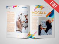 Bi-Fold Brochure – 2 Free PSD Mockups