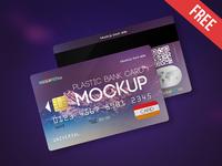 Plastic Bank Card – 2 Free PSD Mockups