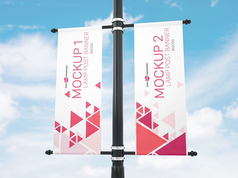 Free Lamp Post Banner Mock Up In Psd By Mockupfree Dribbble Dribbble