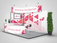 3 Free Exhibition Stand Mock-ups in PSD