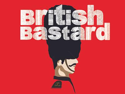 British Bastard minimalist ipa package design beer